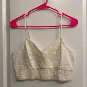 American Eagle bralette/crop-top (Off-white)